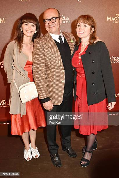 Anais Tellenne her father and mother Karl Zero and Daisy d'Errata attend the La Foret des Quinconces Party and Feu Chatterton Concert during the 69th...
