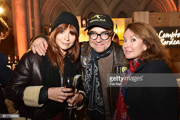 Anais Tellenne Karl Zero and Daisy dÕErrata attend Les Fooding 2017 / Cocktail at Cathedrale Americaine de Paris on November 7 2016 in Paris France