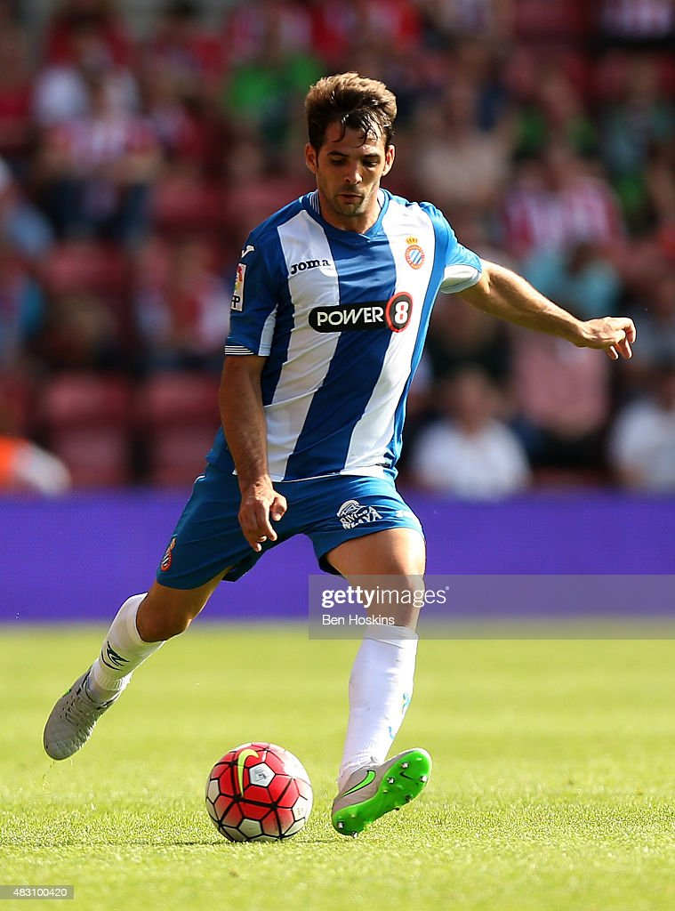 Anaitz Arbilla of Espanyol in action during the pre season friendly match between Southampton and Espanyol at St Mary's Stadium on August 2, 2015 in Southampton, England.