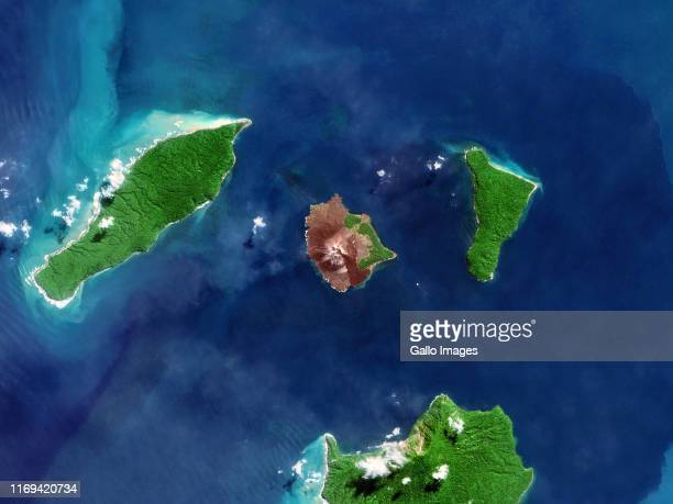 Anak Krakatau volcano in the Sunda Strait preDecember 2018 eruption