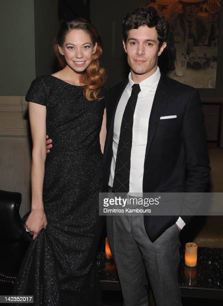 "Analeigh Tipton and Adam Brody attend the after party for the Cinema Society with Town & Country and Brooks Brothers screening of ""Damsels in..."