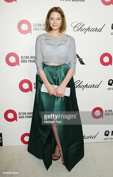 Analeigh Tipton arrives at the 22nd Annual Elton John AIDS Foundation's Oscar viewing party held on March 2 2014 in West Hollywood California