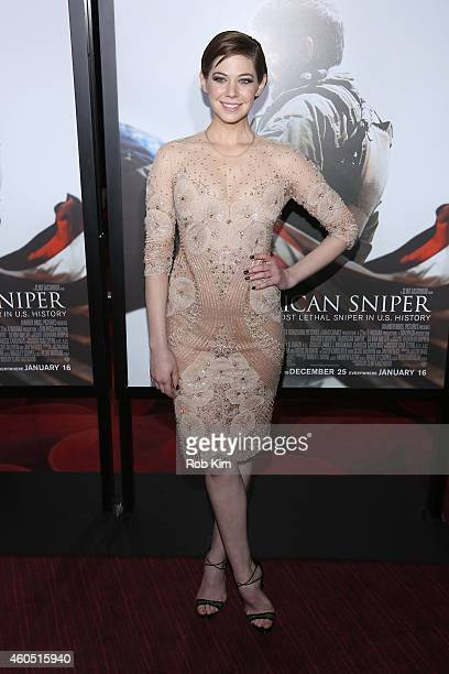Analeigh Tipton arrives at the American Sniper New York Premiere at Frederick P Rose Hall Jazz at Lincoln Center on December 15 2014 in New York City