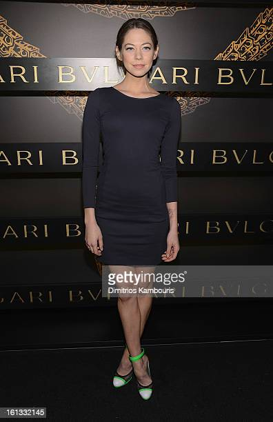 Analeigh Tipton attends Bulgari Celebrates Icons Of Style The Serpenti during Fall 2013 Fashion Week at Bulgari Fifth Avenue on February 9 2013 in...