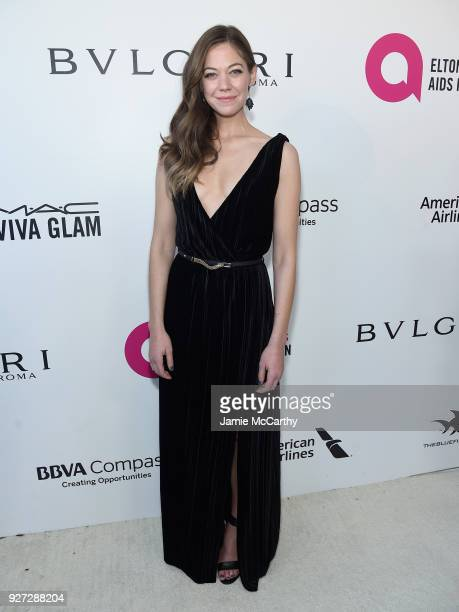 Analeigh Tipton attends the 26th annual Elton John AIDS Foundation Academy Awards Viewing Party sponsored by Bulgari celebrating EJAF and the 90th...