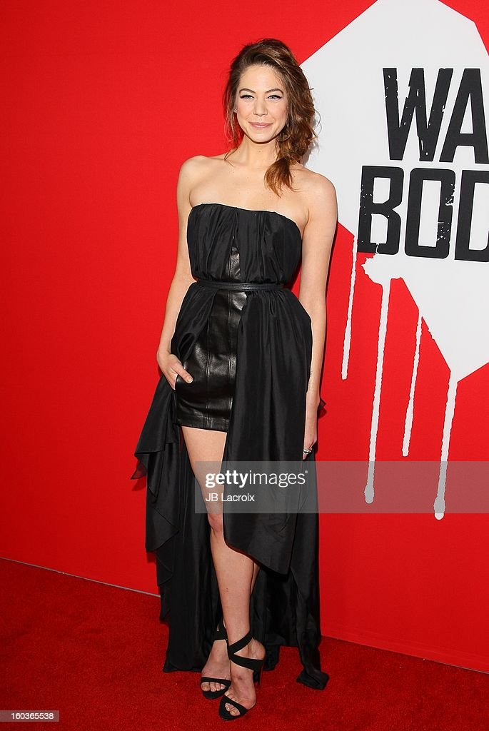 Analeigh Tipton attends the 'Warm Bodies' premiere held at ArcLight Cinemas Cinerama Dome on January 29, 2013 in Hollywood, California.
