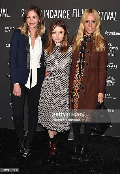 Analeigh Tipton Emily Browning Chloe Sevigny attends the 'Golden Exits' Premiere on day 4 of the 2017 Sundance Film Festival at Library Center...