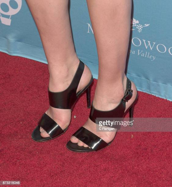 Analeigh Tipton shoe detail attends the Festival Gala at CIA at Copia during ithe 7th Annual Napa Valley Film Festival on November 11 2017 in Napa...