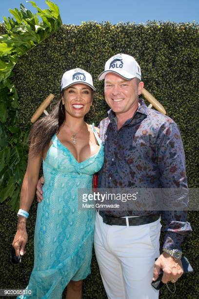 Analisa Corr and James Corr attend Magic Millions Polo on January 7 2018 in Gold Coast Australia