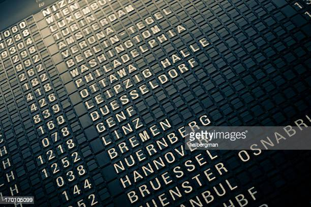 analog airport departure board - vintage stock stock pictures, royalty-free photos & images