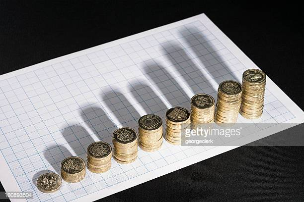 analysis of growth - making money stock pictures, royalty-free photos & images
