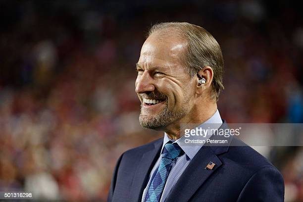 CBS analyst Bill Cowher on the sidelines during the NFL game between the Arizona Cardinals and the Minnesota Vikings at the University of Phoenix...