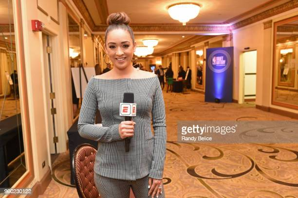 Analyst Cassidy Hubbarth is photographed during the 2018 NBA Draft Lottery at the Palmer House Hotel on May 15 2018 in Chicago Illinois NOTE TO USER...