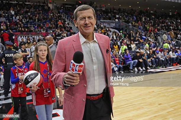 Analyst Craig Sager poses for a photo during the NBA AllStar Practice as part of 2016 AllStar Weekend at the Ricoh Coliseum on February 13 2016 in...