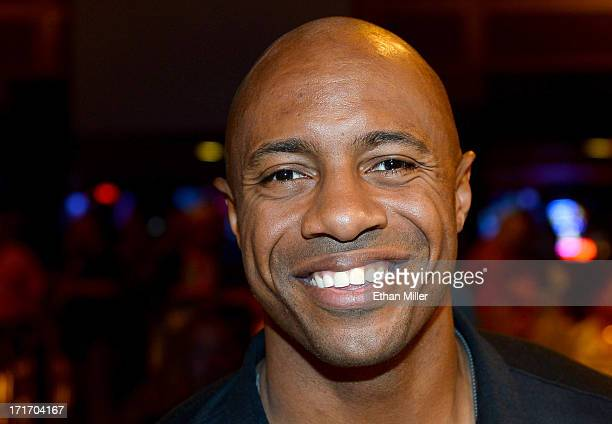 ESPN analyst former NBA player and pageant judge Jay Williams appears before the 17th annual Hooters International Swimsuit Pageant at The Joint...