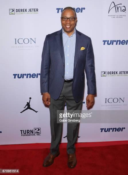 ESPN analyst Jay Harris attends the 2017 Derek Jeter Celebrity Invitational gala at the Aria Resort Casino on April 20 2017 in Las Vegas Nevada