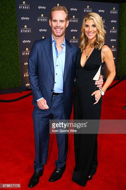Analyst Joe Buck and wife Michelle Beisner on the Red Carpet at the 4th Annual NFL Honors being held at Symphony Hall in the Phoenix Convention...