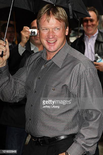 Analyst Jon Gruden visits 'Late Show With David Letterman' at the Ed Sullivan Theater on April 26 2010 in New York City