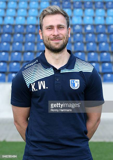 Analyst Kevin Waliczek poses during the team presentation of 1 FC Magdeburg at MDCCArena on July 7 2016 in Magdeburg Germany Kevin Waliczek