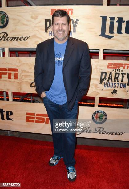 ESPN analyst Mark Schlereth attends the 13th Annual ESPN The Party on February 3 2017 in Houston Texas