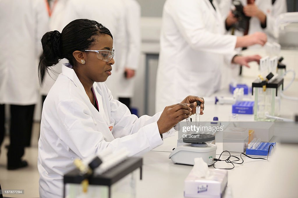 Analyst Myriam Kabu works in the anti-doping laboratory which will test athlete's samples from the London 2012 Games on January 19, 2012 in Harlow, England. The facility, which will be provided by GSK and operated by King's College London, will test over 6250 samples throughout the Olympic and Paralympic Games. Over 150 anti-doping scientists will work in the laboratory, which measures the size of seven tennis courts, 24 hours a day.