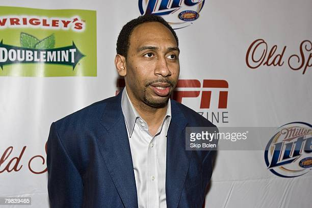 Analyst Stephen A Smith arriving at the ESPN The Magazine's After Dark Party in the Metropolitan Big Room at Generations Hall on February 15 2008 in...