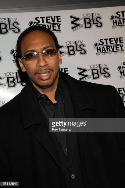 """Analyst Stephen A. Smith attends the premiere of Steve Harvey's """"Don't Trip...He Ain't Through With Me Yet"""" at the Magic Johnson Theaters March 16,..."""