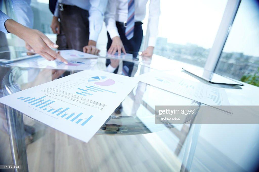 Analyzing documents : Stock Photo