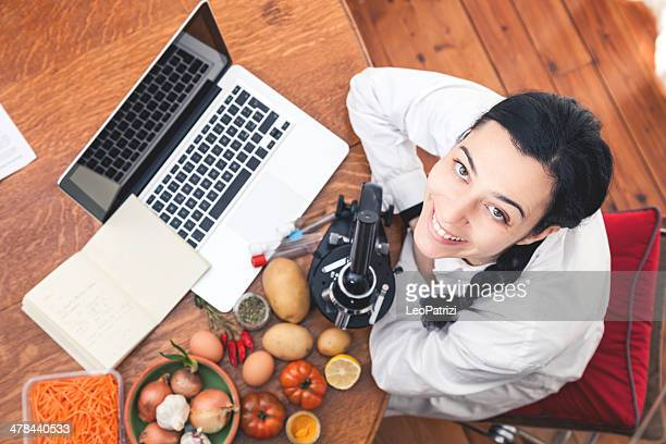 analyzing food - nutritionist stock pictures, royalty-free photos & images