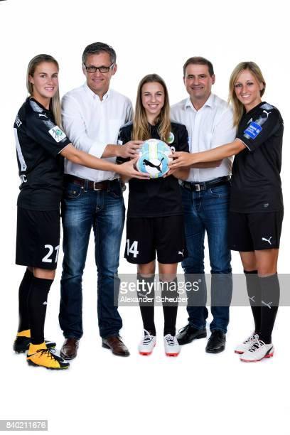 AnaMaria Crnogorcevic general manager of Allianz insurance Juergen Ruppel Jackie Groenen general manager of Allianz insurance Christof Just and...