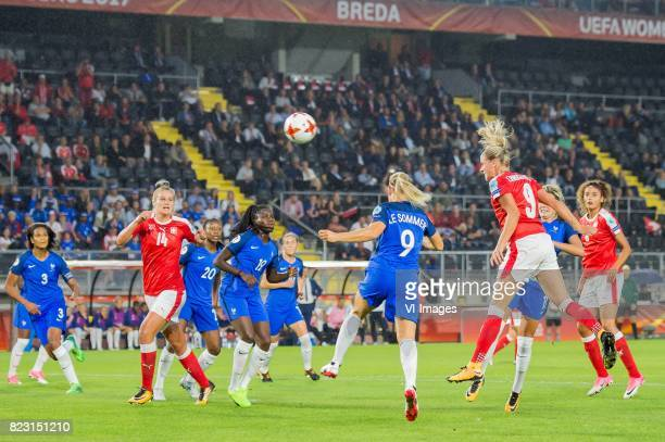 AnaMaria Crnogorcevic of Switzerland women scores during the UEFA WEURO 2017 Group C group stage match between Switzerland and France at the Rat...