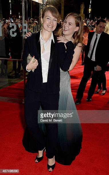 Anamaria Marinca and Alicia von Rittberg attend the closing night Gala screening of 'Fury' during the 58th BFI London Film Festival at Odeon...