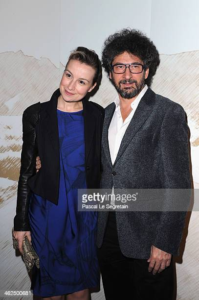 Anamaria Marinca and Radu Mihaileanu attend the 'Cesar Revelations 2014' Cocktail Party and Dinner at Salons Chaumet on January 13 2014 in Paris...
