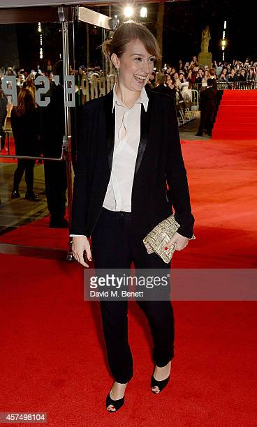 Anamaria Marinca attends the closing night Gala screening of 'Fury' during the 58th BFI London Film Festival at Odeon Leicester Square on October 19...