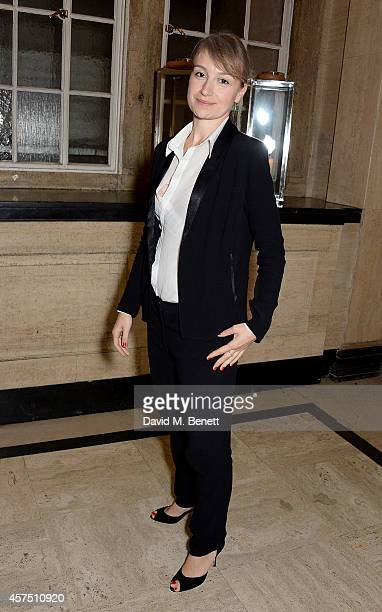 Anamaria Marinca attends the party for the Closing Night Gala Premiere for 'Fury' during the 58th BFI London Film Festival at Odeon Leicester Square...