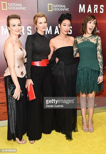 Anamaria Marinca Cosima Shaw Jihae and Clementine Poidatz attend the National Geographic Channel 'MARS' New York Premiere at the School of Visual...
