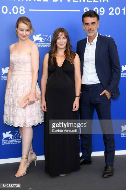 Anamaria Marinca Karina Fernandez and Thomas Trabacchi attend the 'Nico 1988' photocall during the 74th Venice Film Festival on August 30 2017 in...