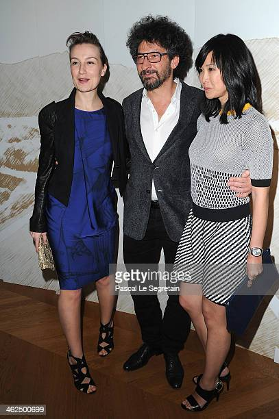 Anamaria Marinca Radu Mihaileanu and LinhDan Pham attend the 'Cesar Revelations 2014' Cocktail Party and Dinner at Salons Chaumet on January 13 2014...