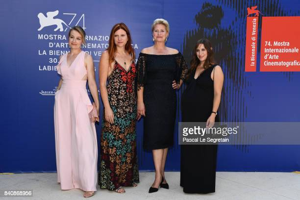 Anamaria Marinca Susanna Nicciarelli Trine Dyrholm and Karina Fernandez walk the red carpet ahead of the 'Nico 1988' screening during the 74th Venice...