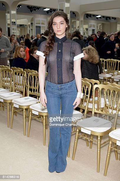 Anamaria Vartolome attends the Chanel show as part of the Paris Fashion Week Womenswear Fall/Winter 2016/2017 on March 8 2016 in Paris France