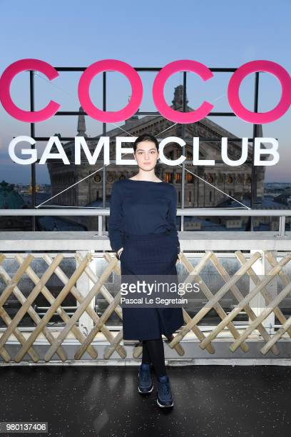 Anamaria Vartolomei attends Chanel's Coco Game Club event Photocall at Galeries Lafayette Haussmann on June 20 2018 in Paris France