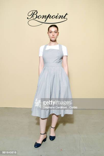 Anamaria Vartolomei attends the Bonpoint Haute Couture Fall/Winter 20182019 show as part of Haute Couture Paris Fashion Week on July 4 2018 in Paris...