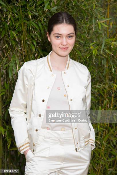 Anamaria Vartolomei attends the Bonpoint Winter 2018 show as part of Paris Fashion Week January 24 2018 in Paris France