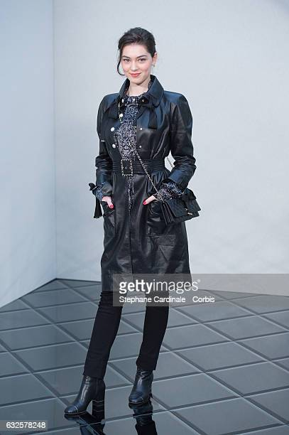 Anamaria Vartolomei attends the Chanel Haute Couture Spring Summer 2017 show as part of Paris Fashion Week on January 24, 2017 in Paris, France.