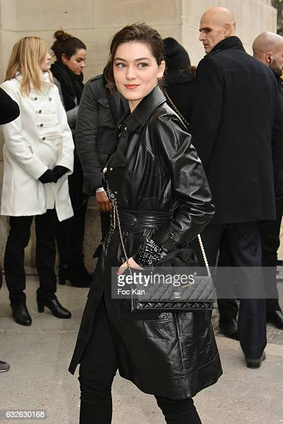 Anamaria Vartolomei attends the Chanel Haute Couture Spring Summer 2017 show as part of Paris Fashion Week on January 24 2017 in Paris France