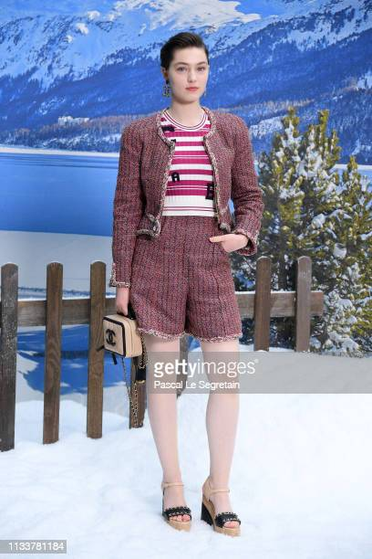 Anamaria Vartolomei attends the Chanel show as part of the Paris Fashion Week Womenswear Fall/Winter 2019/2020 on March 05 2019 in Paris France