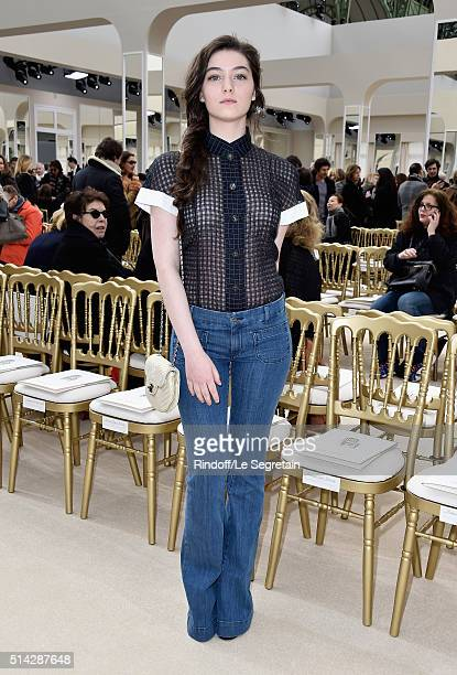 Anamaria Vartolomei attends the Chanel show as part of the Paris Fashion Week Womenswear Fall/Winter 2016/2017 on March 8 2016 in Paris France
