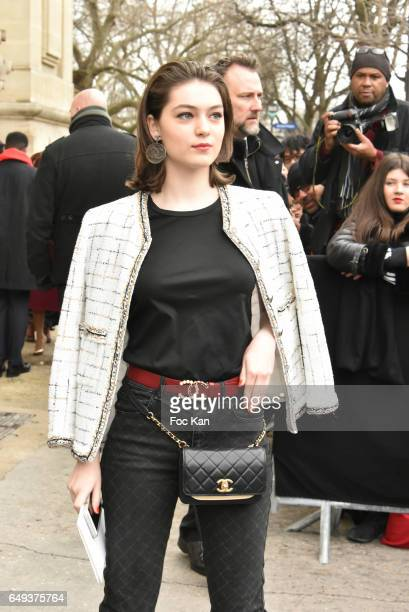 Anamaria Vartolomei attends the Chanel show as part of the Paris Fashion Week Womenswear Fall/Winter 2017/2018 on March 7 2017 in Paris France