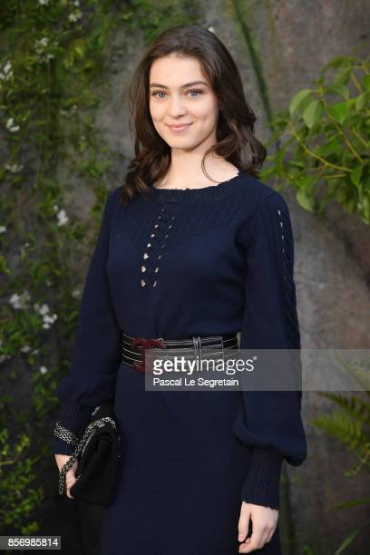 Anamaria Vartolomei attends the Chanel show as part of the Paris Fashion Week Womenswear Spring/Summer 2018 on October 3 2017 in Paris France