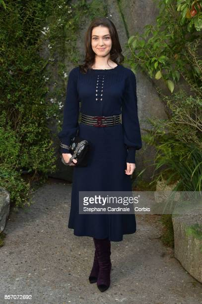 Anamaria Vartolomei attends the Chanel show as part of the Paris Fashion Week Womenswear Spring/Summer 2018 at on October 3 2017 in Paris France